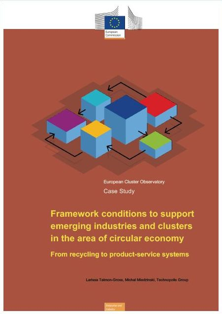 Framework conditions to support emerging industries and clusters in the area of circular economy