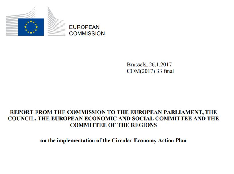 Report on the implementation of the circular economy action plan